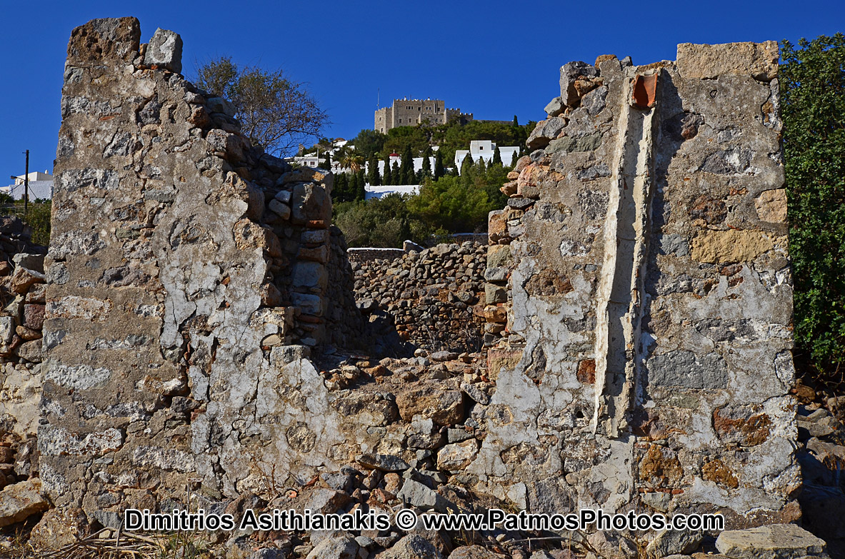 Patmos Chora Ruins Photos