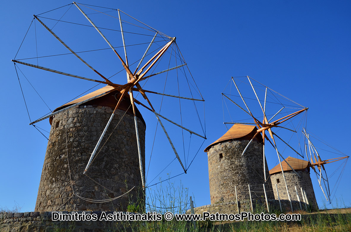 Patmos Chora Windmills Photos
